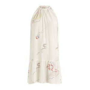 Coster Copenhagen white dress in eco friendly viscose with jellyfish print