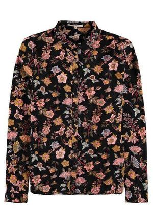 Garcia black shirt with allover flower print