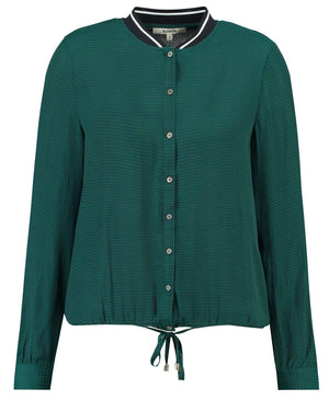 Dark Green Garcia Shirt with Bow Detail