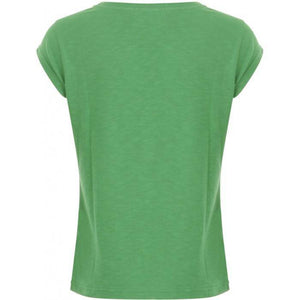Coster Copenhagen green t‐shirt w. trust the timing print