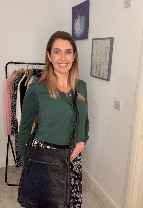 Garcia green blouse with bow