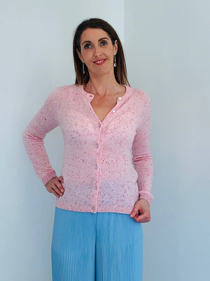 Coster Copenhagen light pink cashmere cardigan
