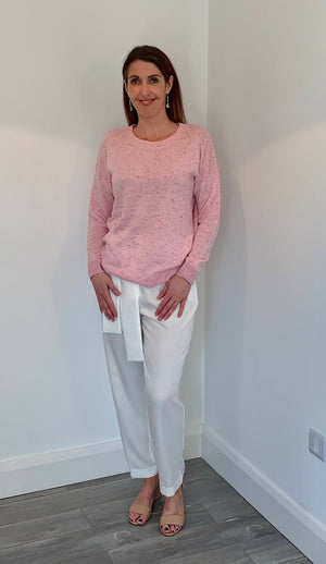 Coster Copenhagen light pink cashmere sweater