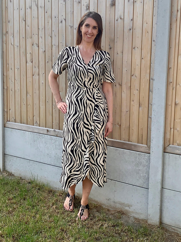 Dress with Zebra Print