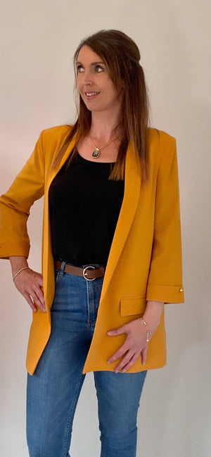 Access Fashion Loose Fit Yellow Blazer - Your Style Your Story