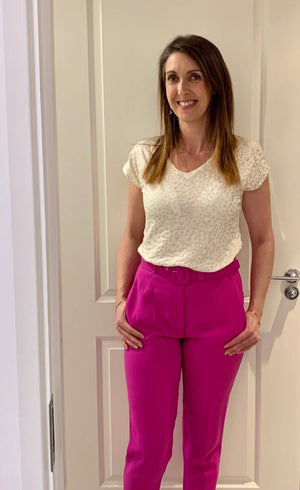 Access Fashion Pink Tailored Trousers - Your Style Your Story