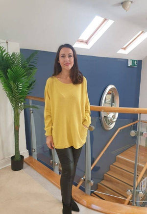 Kate & Pippa Roma Yellow Loose Fit Knit