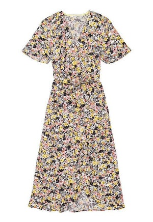 Garcia Long Allover Floral Design Dress