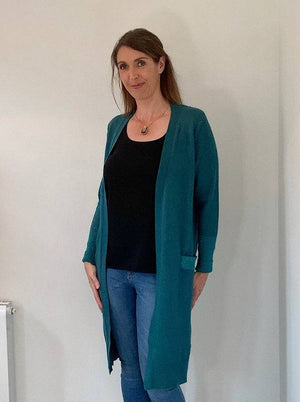 Long Teal Cardigan - Your Style Your Story