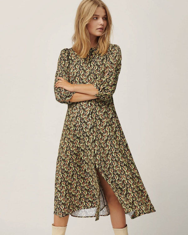 Moss Copenhagen Dress with Puff Sleeves