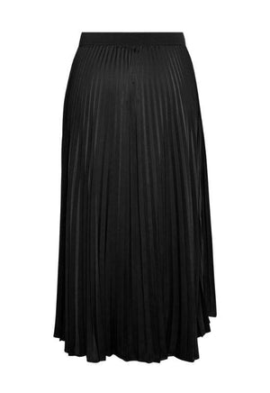 Moss Copenhagen Black Pleated Midi Skirt