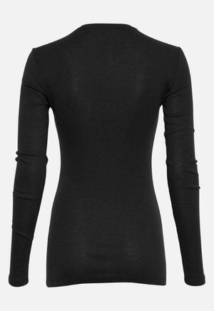 Moss Copenhagen Black Long-Sleeved Top