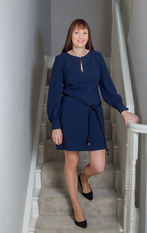 Access Fashion Lined Dress with Rope Belt
