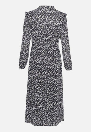 Moss Copenhagen Navy Dress with Allover Print