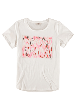 Garcia off white t-shirt with Paradiso print