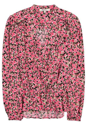 Garcia pink allover flowers print blouse