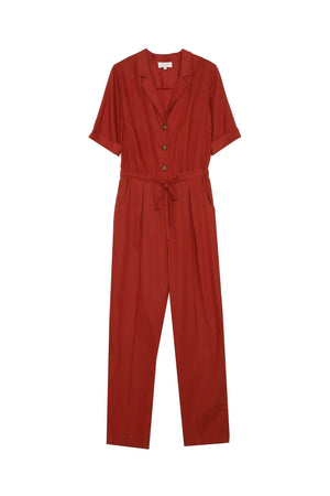 Grace & Mila Red Jumpsuit with sliding belt - Your Style Your Story
