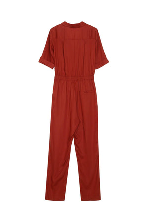 Grace & Mila Red Jumpsuit with sliding belt