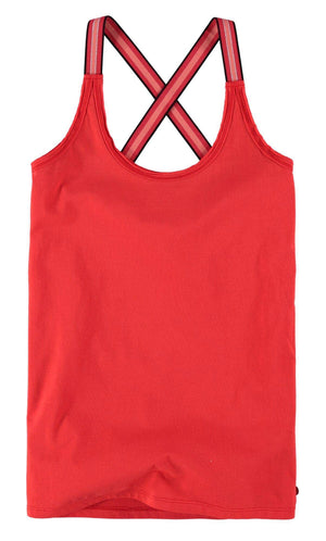 Poppy Red Sleeveless Garcia Top