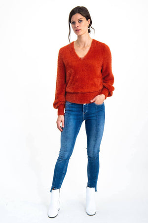 Garcia Red Fluffy Sweater