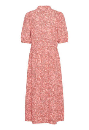 Moss Copenhagen Rose Pink Dress in Allover Print