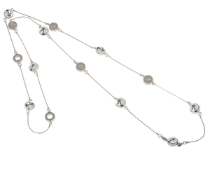 IOAKU Silver / White Iconic Zen Necklace