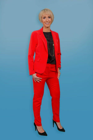 Access Fashion Tailored Coral Red Blazer