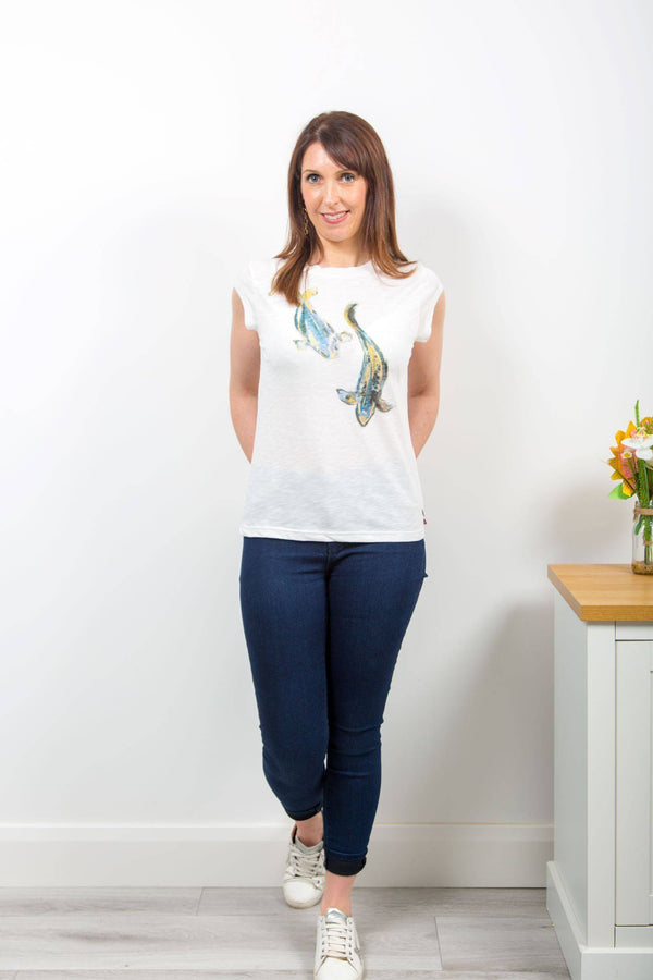Coster Copenhagen t-shirt with fish print - Your Style Your Story