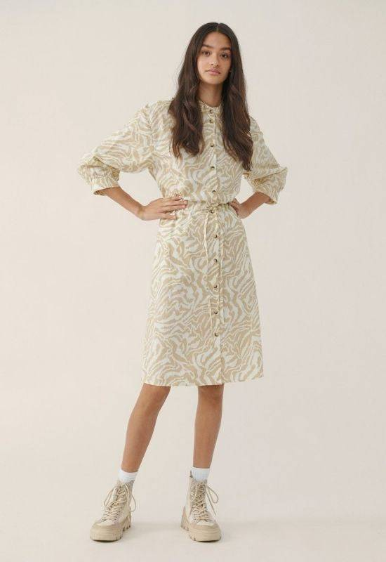 Moss Copenhagen White Zebra Print Dress