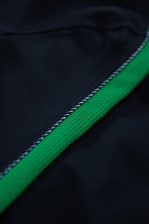 Black Garcia Jacket with green stripe