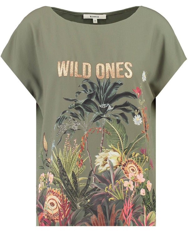 Garcia T-shirt with Wild Ones Print - Your Style Your Story