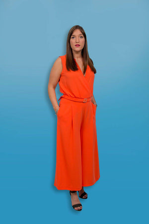 Access Fashion Orange Jumpsuit - Your Style Your Story
