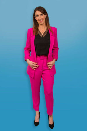 Access Fashion Woman's Pink Suit Jacket - Your Style Your Story