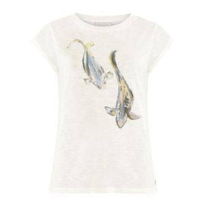 Coster Copenhagen black t-shirt with fish print