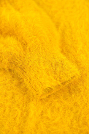 Yellow Garcia Fluffy Cardigan