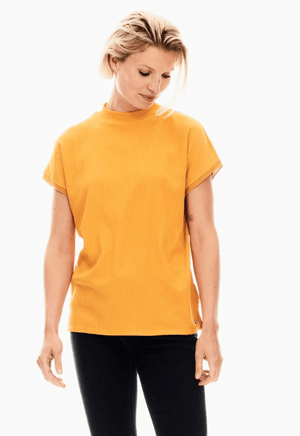 Garcia yellow t-shirt with turtleneck