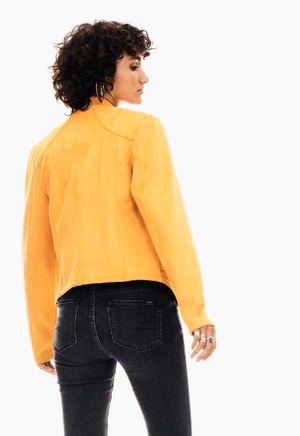 Yellow Garcia biker jacket
