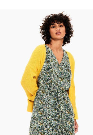 Garcia Yellow Cardigan with a Zipper