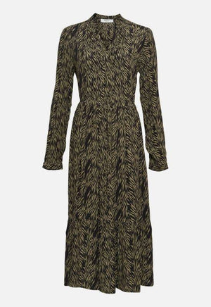Moss Copenhagen Zebra Green Print Dress