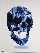 """Blue Man"" Skull Original Oil and Canvas Painting"
