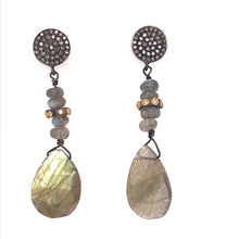 Sterling Silver Labradorite Dangle Earrings