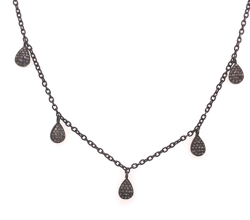 Diamond Pave Drop Necklace