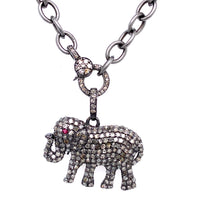 Diamond Pave Elephant Charm