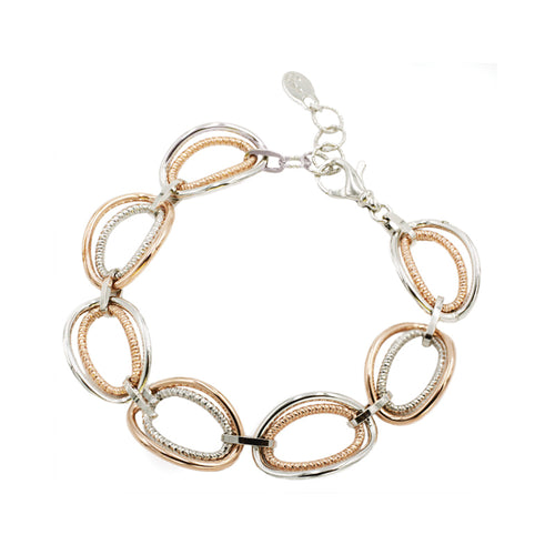 STERLING SILVER + ROSE GOLD PLATED VANESSA BRACELET (Online or Decatur Exclusive)
