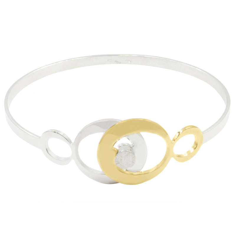 STERLING SILVER YELLOW GOLD PLATED CIRCLE DELIGHT CUFF (Online or Decatur Exclusive)
