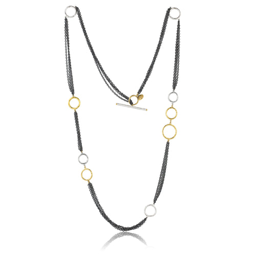 Lika Behar Multi Strand Necklace with Rings