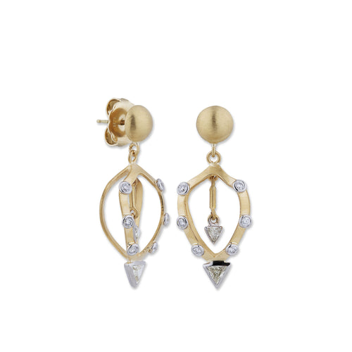 Lika Behar Cage Diamond Dangle Earrings