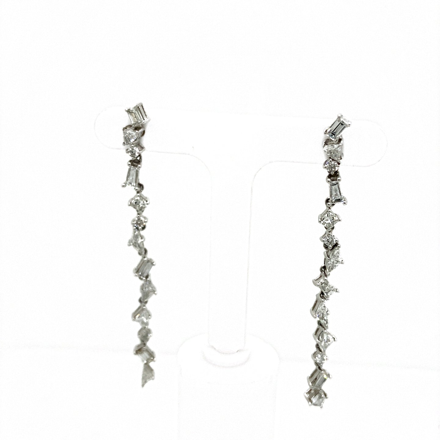 Multi-Shape Diamond Shoulder Duster Earrings