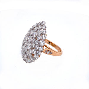 Diamond Cluster Pear Statement Ring