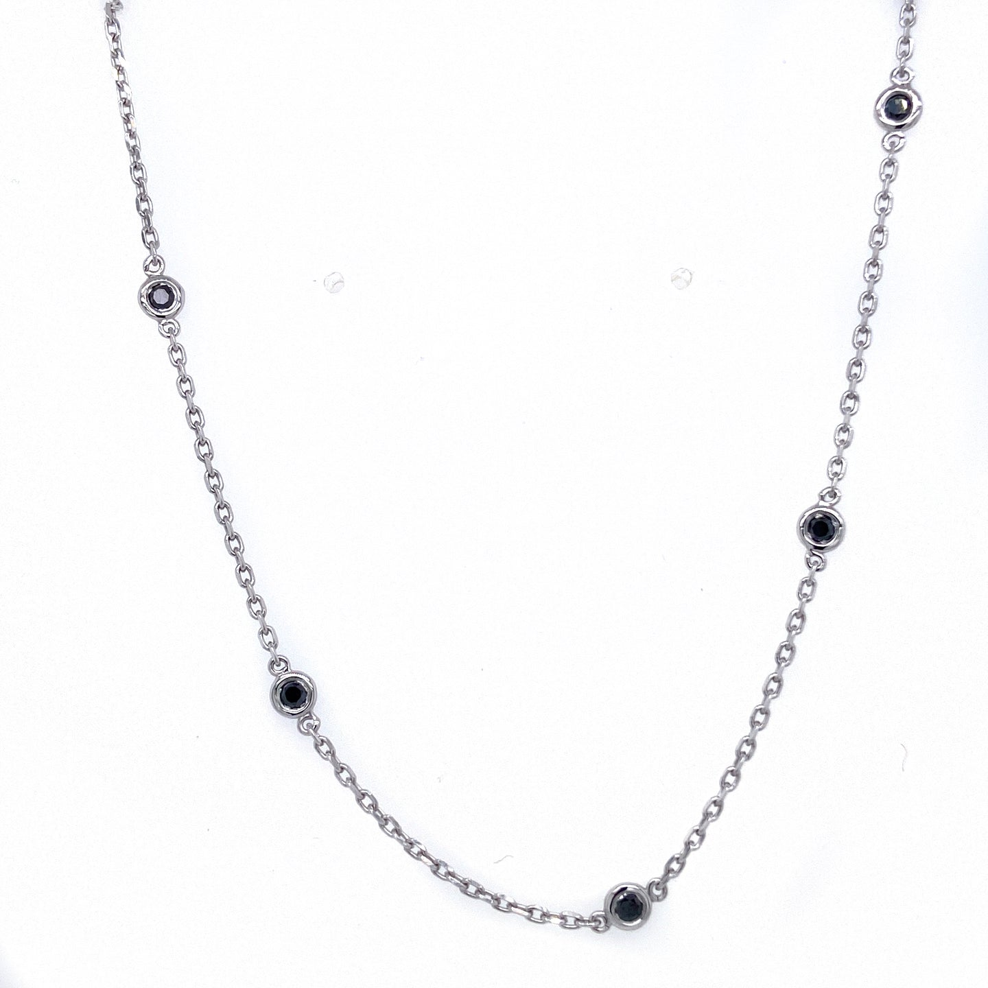 Diamonds By the Yard Necklace with Black Diamonds